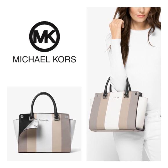 e9e4ee944c6e NWT Michael Kors Selma 3-in-1 Bag Swap Cover